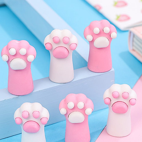 Cat paw eraser pencil topper