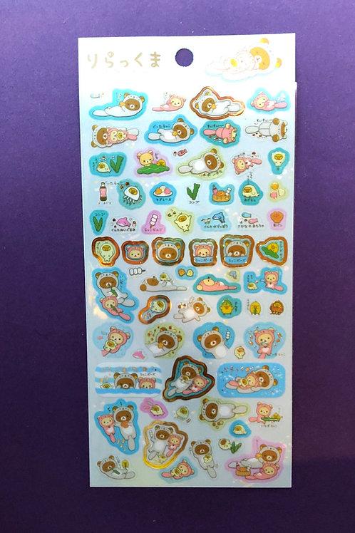 Rilakkuma Otter Themed Stickers Pack 1