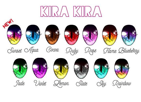 12 & 14mm Resin Doll Eyes- Kira Kira