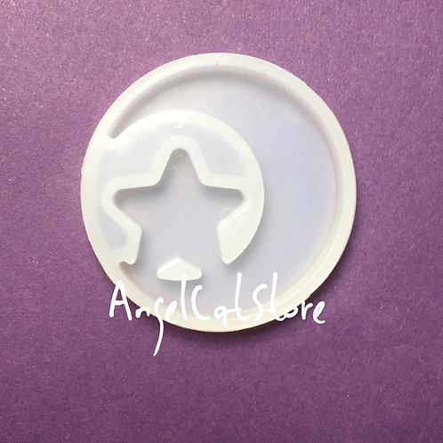 Moon and star silicone mould