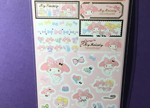 My Melody Iridescent Sparkly Stickers