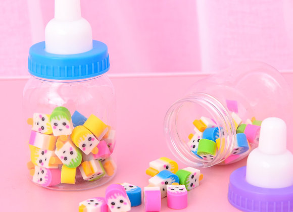 Cute Bottle Filled With Themed Erasers