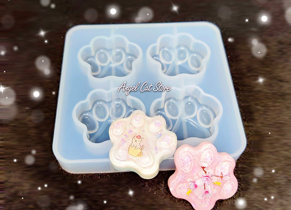 Paw Silicone Mould 4 Cavities