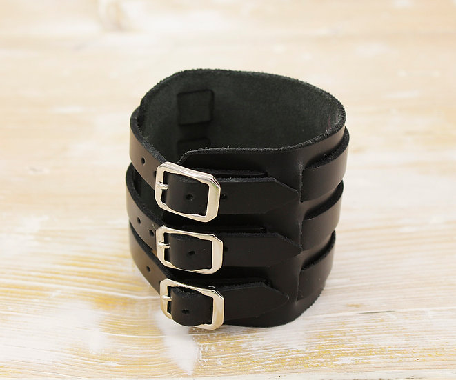 Black Cuff With Buckles