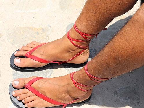 Gemini Men Leather Flip Flops