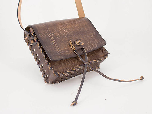 Gray Leather Bag S