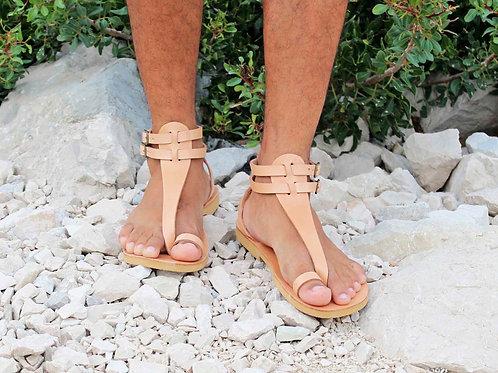 M.V. Men Gladiator Leather Thong Sandals