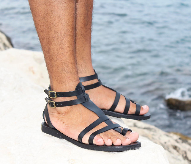 Fascination Men Leather Gladiator Sandals