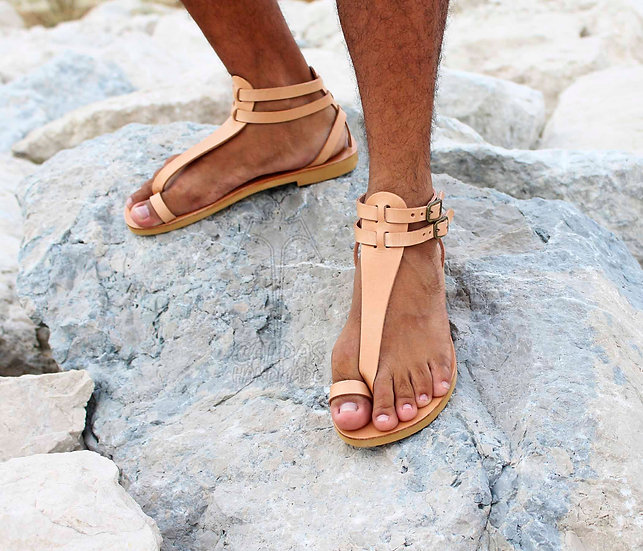 M.V. Gladiator Leather Sandals