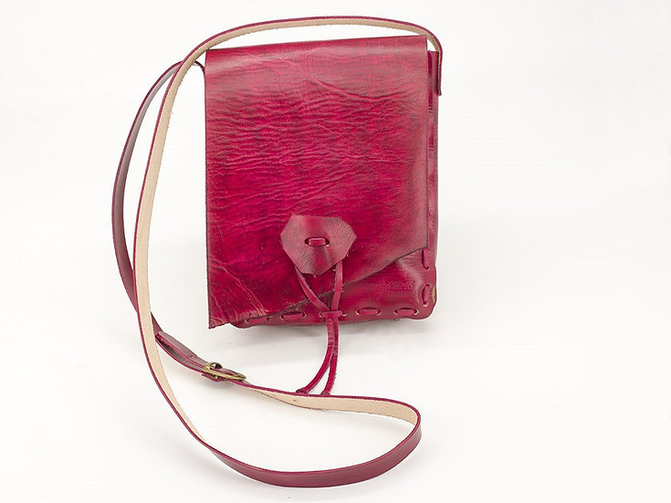 Red Leather Bag M
