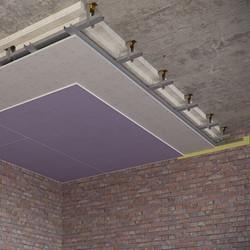 Каркасный зи потолок на Виброфлекс-Коннект К15 (130 мм)2