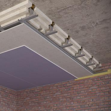 Каркасный зи потолок на Виброфлекс-Коннект К15 (200 мм)2