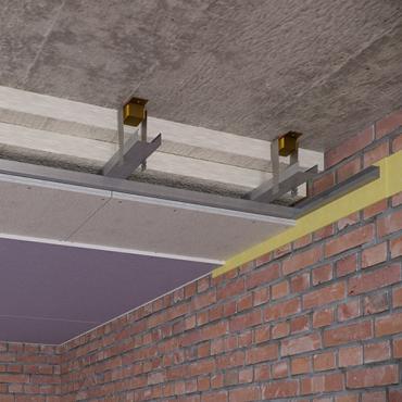 Каркасный зи потолок на Виброфлекс-Коннект К15 (130 мм)1
