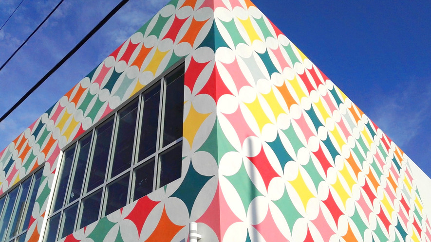 Colorful Diamonds for Wynwood Office Block