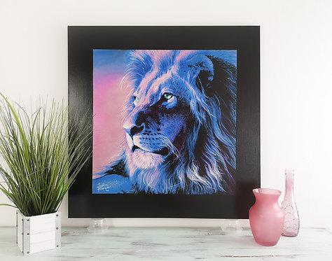"""Blue Lion - 31.5X31.5"""" (80X80cm)"""