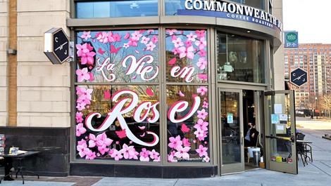 Cherry Blossom Window Mural