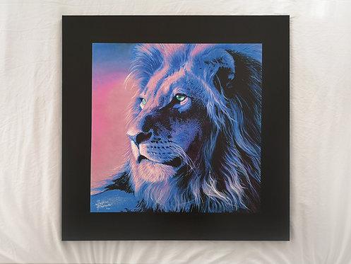 """Blue Lion - 47X47"""" (120X120cm)"""