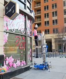 La Vie en Rose Window Mural - Sabrina Rupprecht - 7