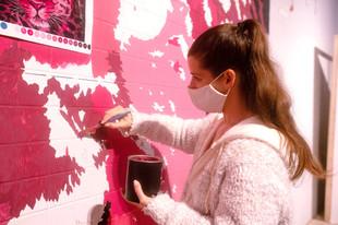Pink Leopard Mural - Sabrina Rupprecht - 3