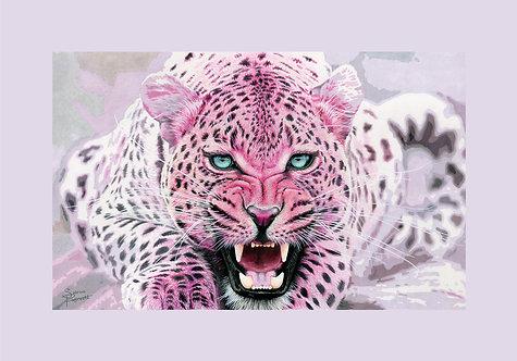 "Pink Leopard 2 - 37.5X55"" (95X140cm)"