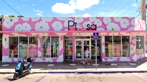 Stylized Floral Mural Façade