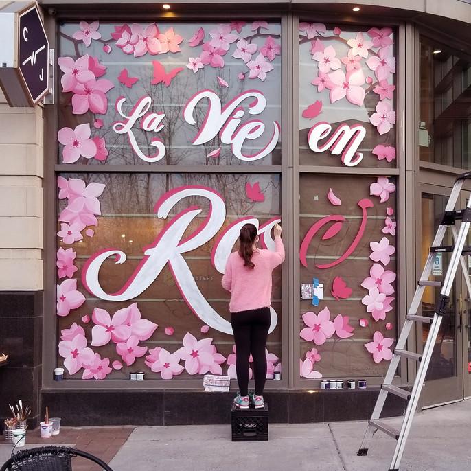 La Vie en Rose Window Mural - Sabrina Rupprecht - 8
