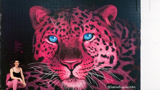 Pink Leopard Mural