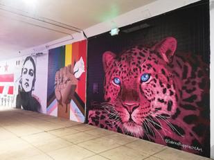 Pink Leopard Mural - Sabrina Rupprecht - 2