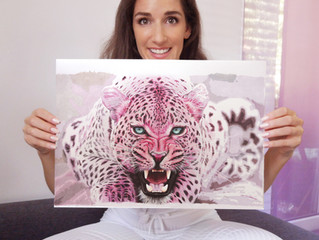 Finished Colour Pencil Leopard Drawing