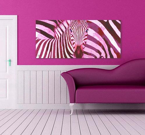 """Pink Zebra - 31.5X71"""" (80X180cm)"""