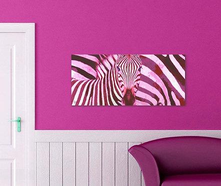 """Pink Zebra - 20X44"""" (50X112cm)"""