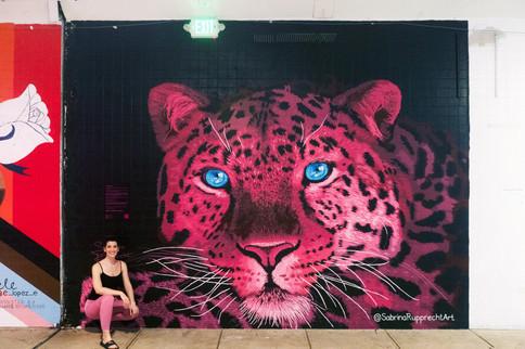 Pink Leopard Mural - Sabrina Rupprecht - 1