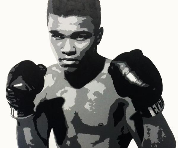 Muhammad Ali Mural for Boxing Club