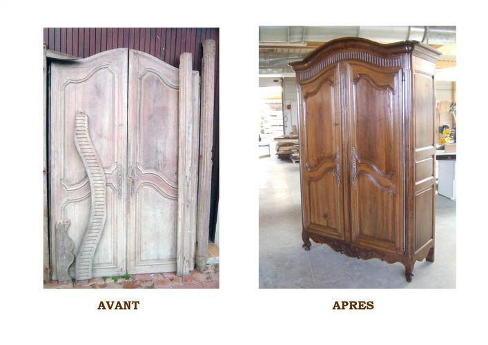 Armoire restaurée