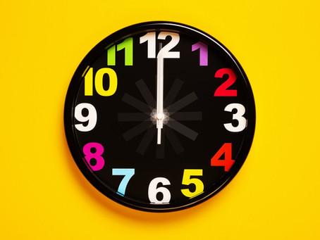 Mide el día en minutos, no en horas