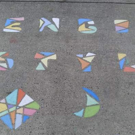 Stencils Stylz - Creating mosaic chalk art one stencil at a time