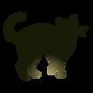 ハロウィーンの猫