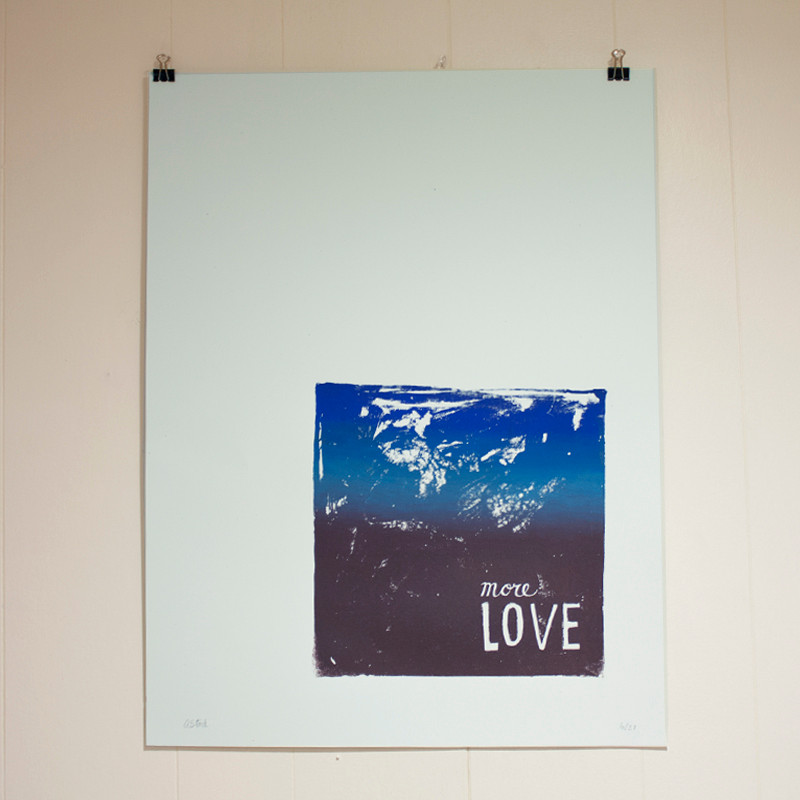 More Love Poster on Starch Rain