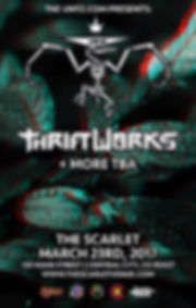 Thrifworks and Special guests Concert Flyer