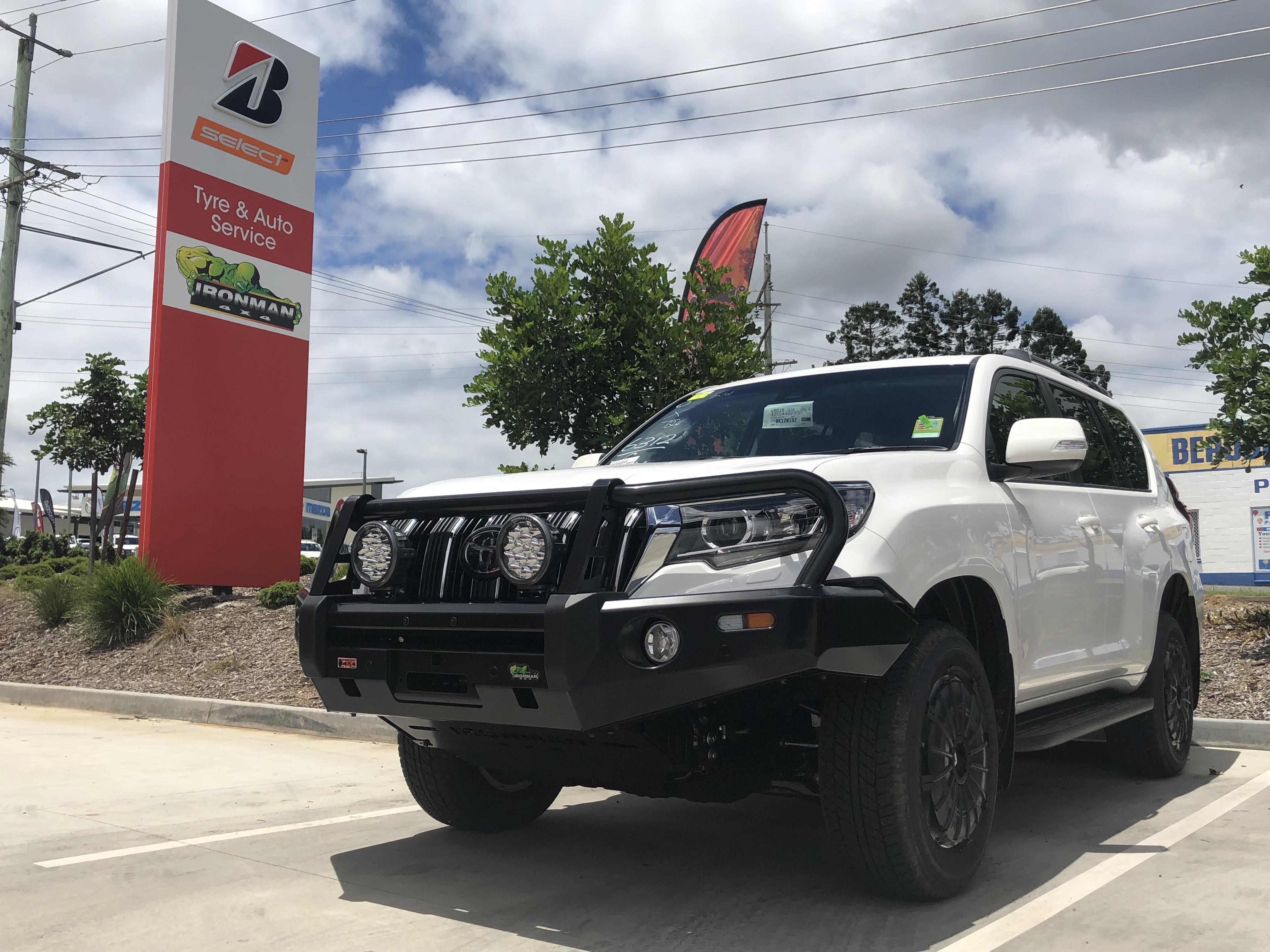 Toyota Prado fitted with Bullbar