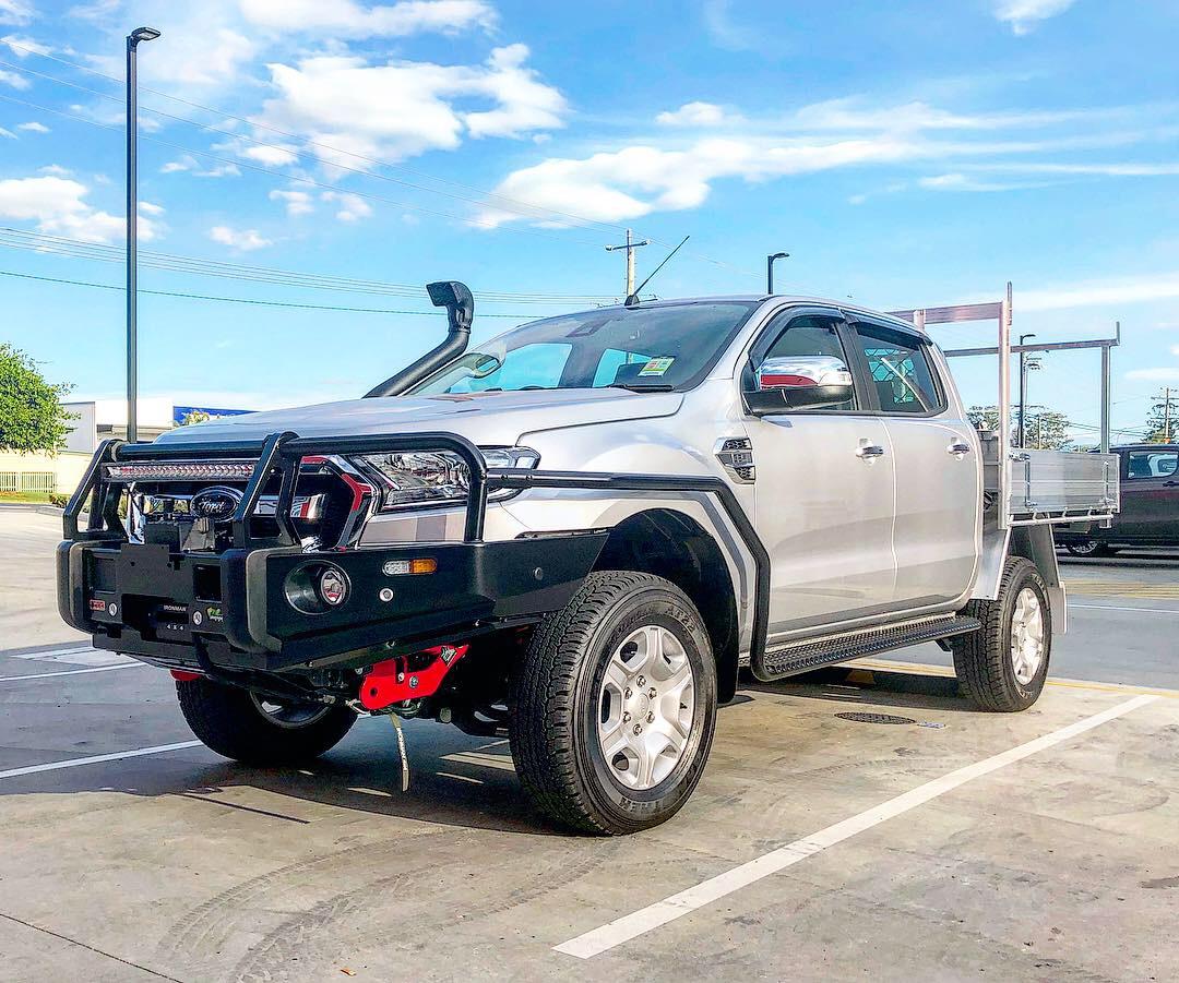 Ford Ranger Bullbar Steps and Rails