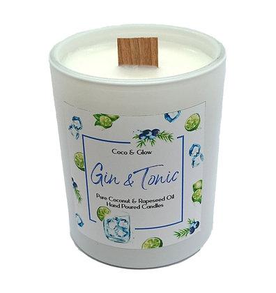 Wood wick candle - Gin & Tonic