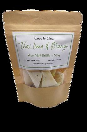 Wax melt brittle -Tahitian lime & Mango