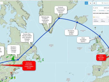 Über den Nordatlantik nach Oshkosh 2018