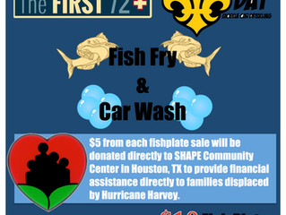 First Friday Fish Fry - Moved to September 8! Support The First 72+ and the recovery in Texas!