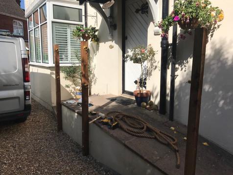 Rope Handrail Installation