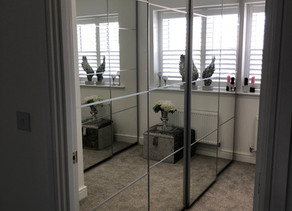 dressing room built with ikea pax units