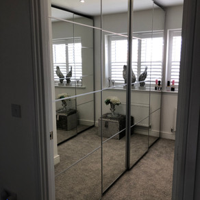 dressing room built with ikea​ pax units
