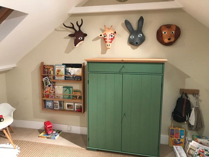 Linen cupboard wall mounted for safety