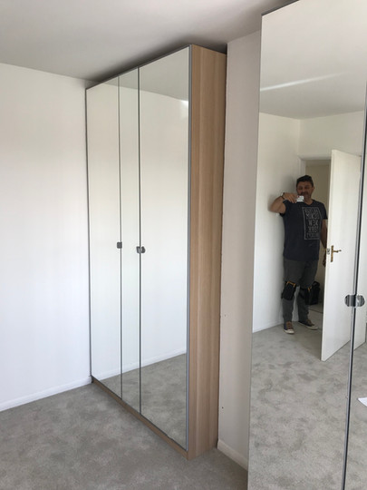 Two Elcoves with Pax Ikea Mirrored doors